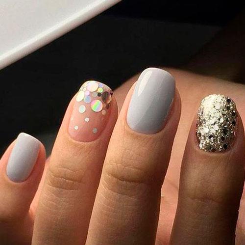 дизайн ногтей с блестками 2