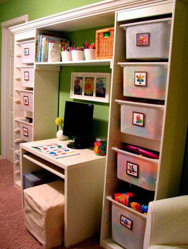 как расположить мебель в детской комнате: учебная зона