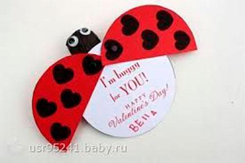 детская валентинка своими руками на 14 февраля 3