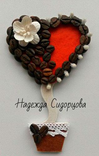 топиарий поделка ко дню святого Валентина 2