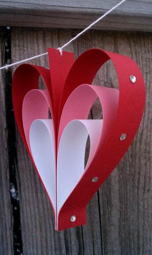 Поделка гирлянда на День Святого Валентина 2