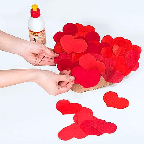 Венок- сердце отличная поделка на день святого Валентина