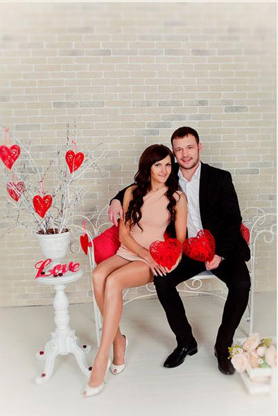 муж и жена на день святого Валентина
