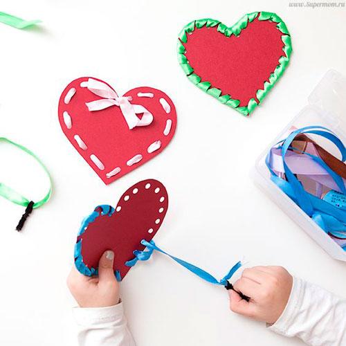 поделка ко дню святого Валентина для малышей