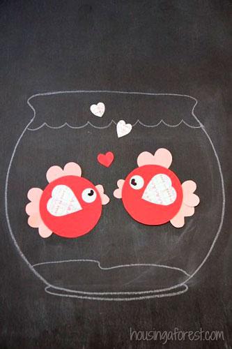 Детские поделки на день святого Валентина 8