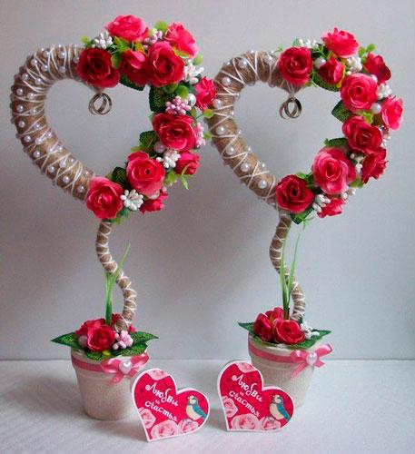 топиарий поделка ко дню святого Валентина