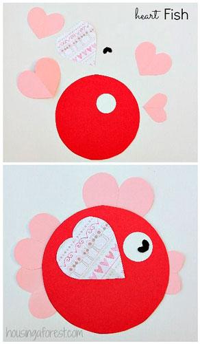 Детские поделки на день святого Валентина 5