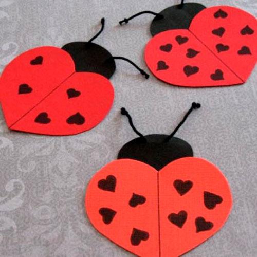 Детские поделки на день святого Валентина 4