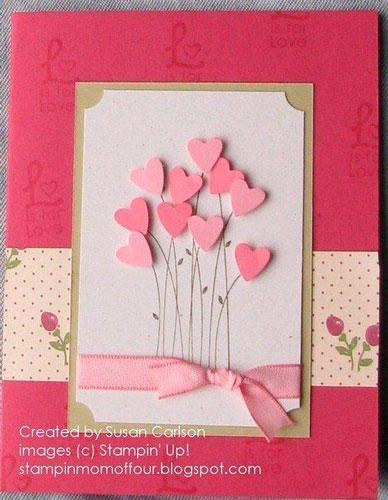 поделка на день святого валентина: цветы-сердца