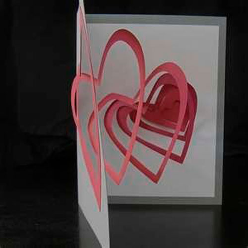 Поделки на день Святого Валентина: открытка с сердцем