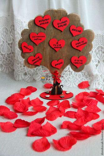 дерево пожеланий - поделка к 14 февраля