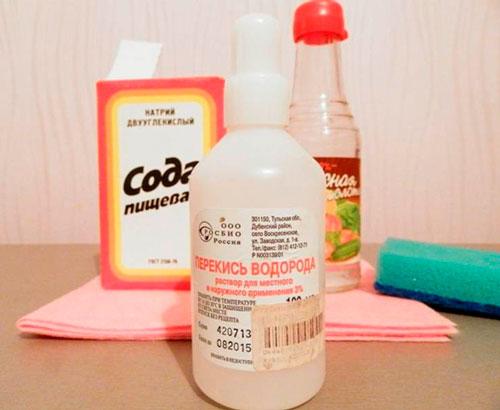 ванночки с перекисью и содой