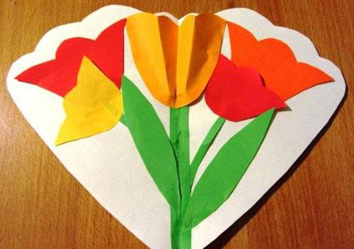 как смастерить открытку своими руками на 8 марта