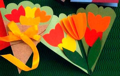 букет из цветов на 8 марта своими руками