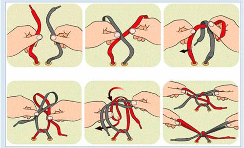 1 способ как научить ребенка завязывать шнурки