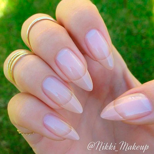 new nail design 2018: french on sharp 5