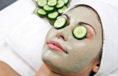 Желатиновые маски для лица с огурцом