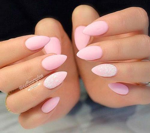 матовые острые ногти 4
