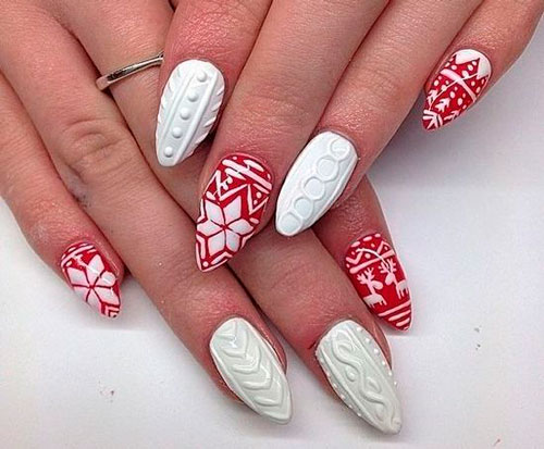knitted patterns on sharp nails 2
