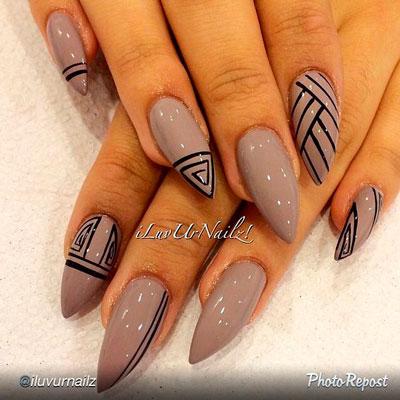 графический дизайн острых ногтей