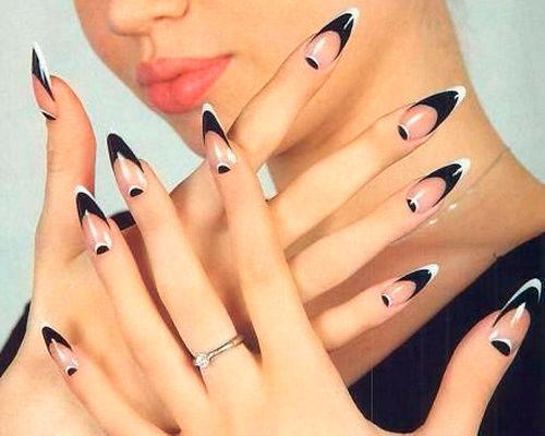 new nail design 2018: french on sharp