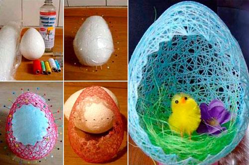 нитяные яйца на Пасху 2
