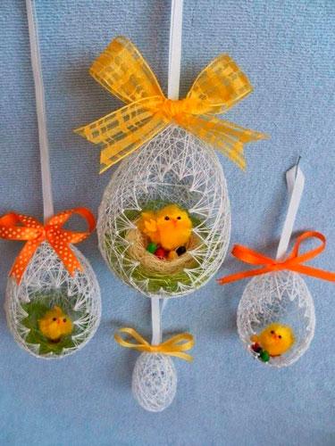 нитяные яйца на Пасху 3