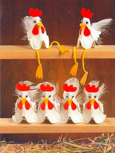 Поделки из лотков для яиц 2