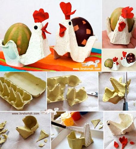 Поделки из лотков для яиц 1