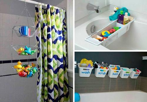 как хранить игрушки в ванной комнате