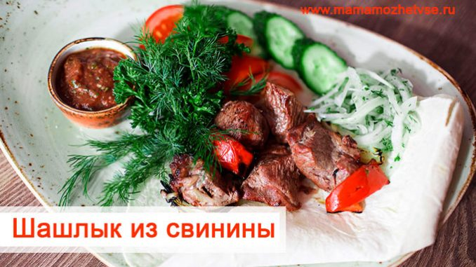 delicious pork shashlik
