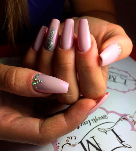фото очень красивых ногтей балерина