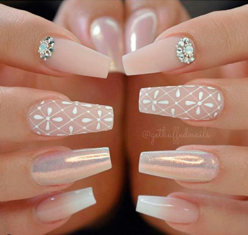 фото дизайна ногтей балерина