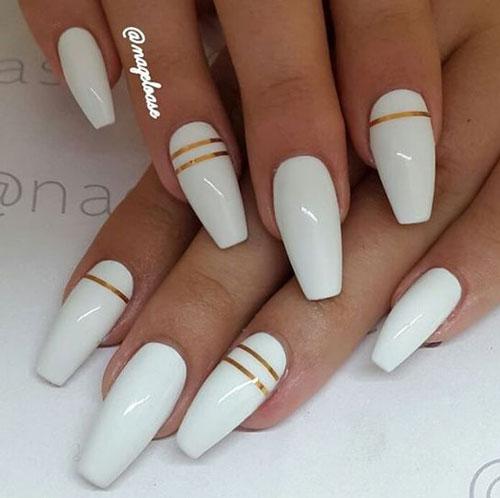 красивые ногти балерина