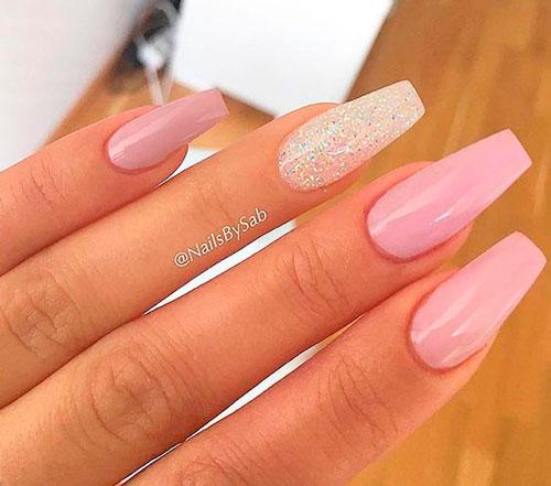 дизайн ногтей формы балерина