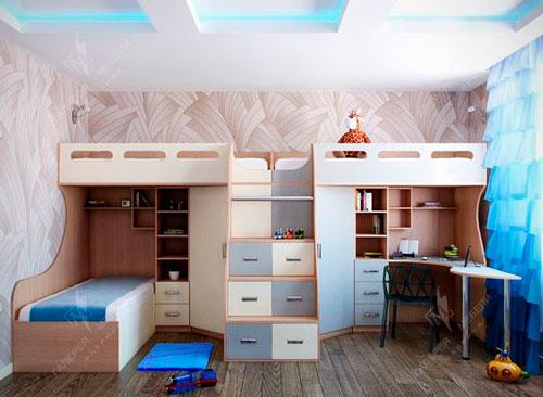 дизайн детской комнаты для троих детей 1