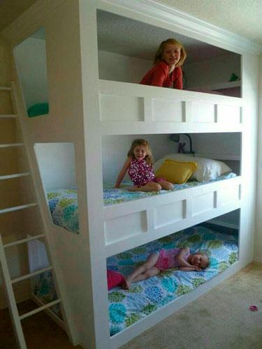 фото детской комнаты для трех девочек