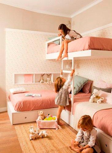 лучшие идеи детских комнат для троих детей