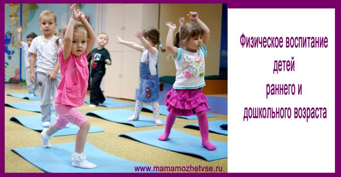 Physical education of children of early and preschool age at home