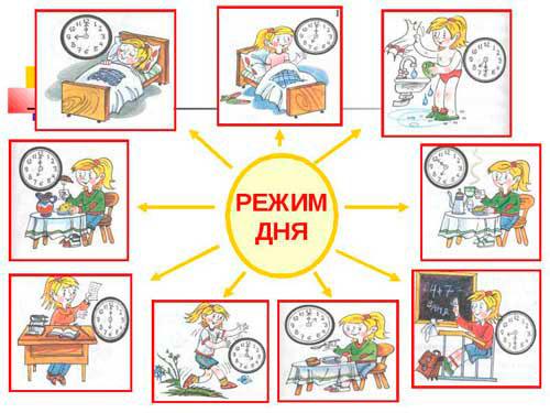 режим дня для детей начальной школы