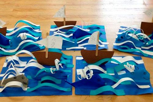 корабли и з бумаги