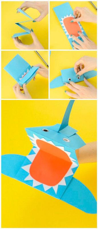 поделки на морскую тему для детей: акула