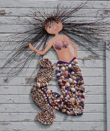 Русалка - поделка на морскую тему для детей