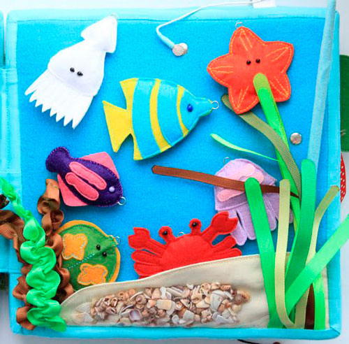 морское дно - поделка для детей