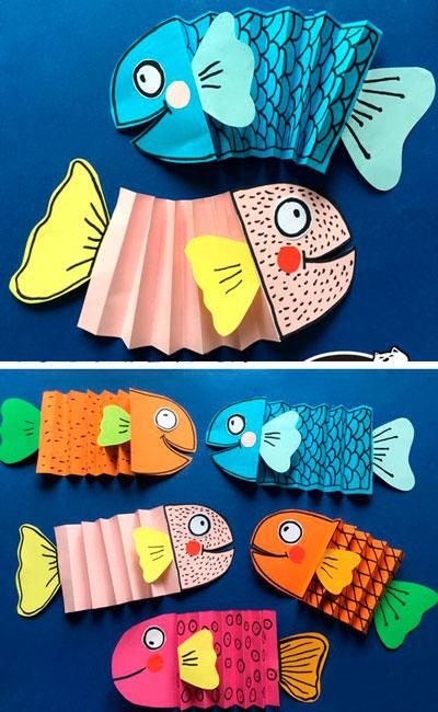 Рыбы из бумаги