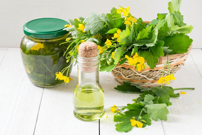 Folk remedy for acne at home from celandine