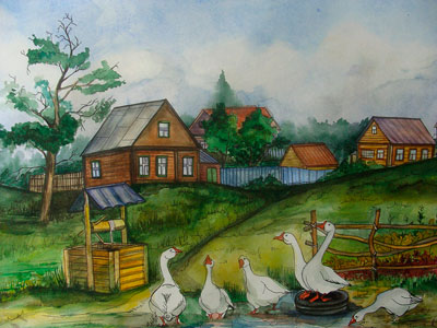 Beautiful poems about the village for school children