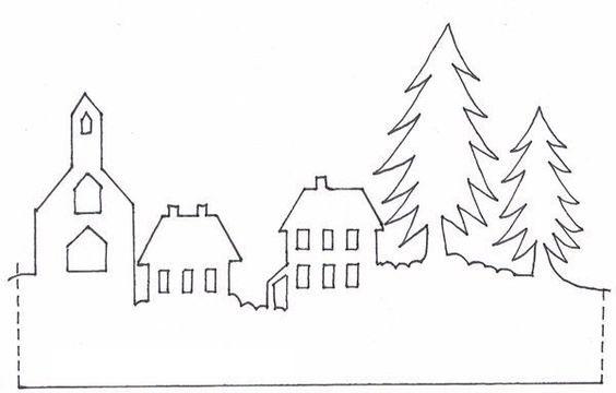 бумажные карт инки для украшения окон к новому году