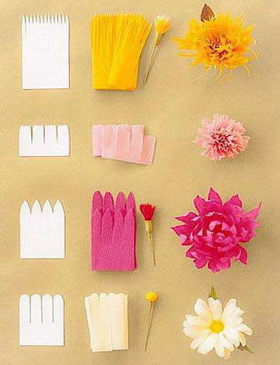 как изготовить цветы из бумаги с пошаговым фото