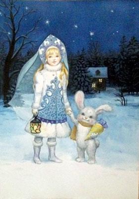 Стихи про снегурочку для детей в детском саду
